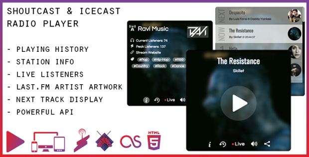 The Most Flexible SHOUTcast & Icecast Radio Player - With